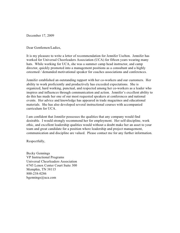 sample coach recommendation letter