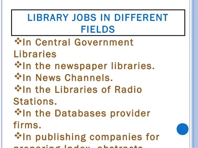 DIFFERENT TYPE OF LIBRARY POSTS