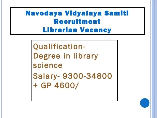 Name of the Govt. Organ Ministry of Home Affairs Post- Inspector (librarian) Pay scale- Pay band- 9,300- 34,800 + grade pa...