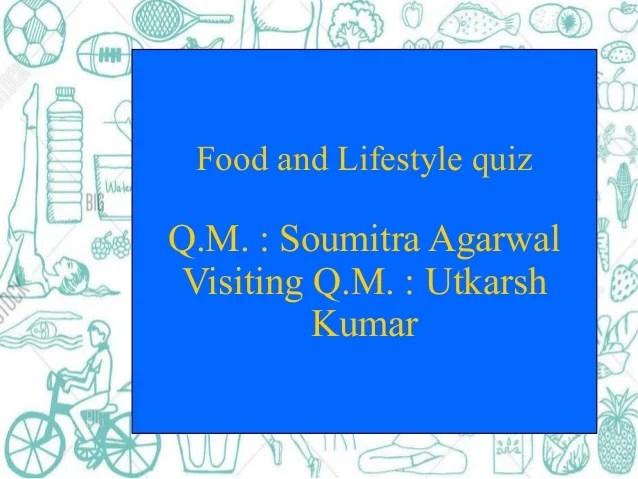 Lifestyle quiz finals