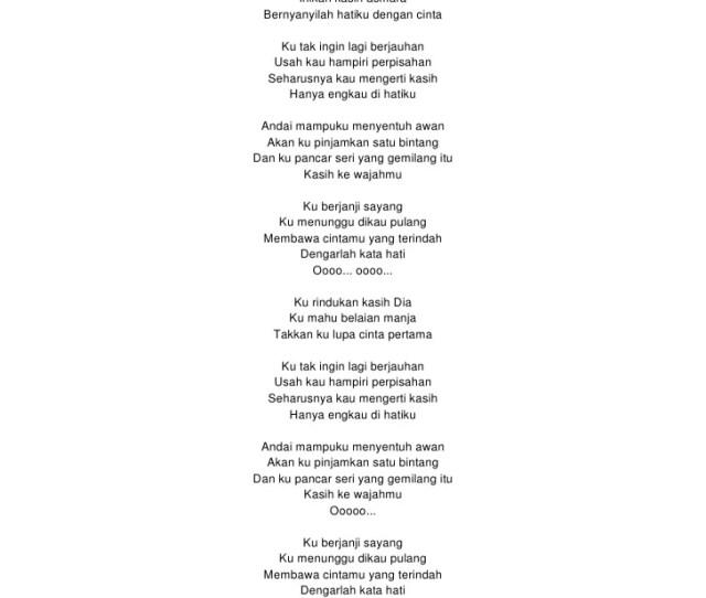 Lirik Ku Pinjam Satu
