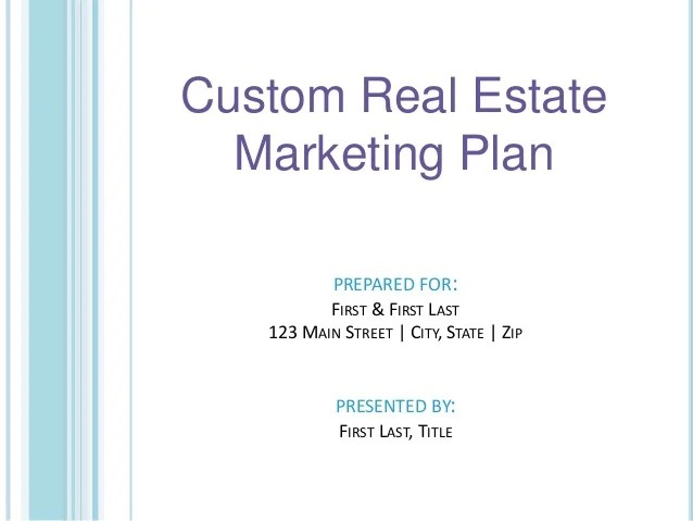 Listing Presentation Template  template library click