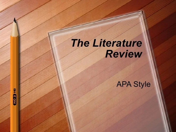 apa literature review sample letter format template