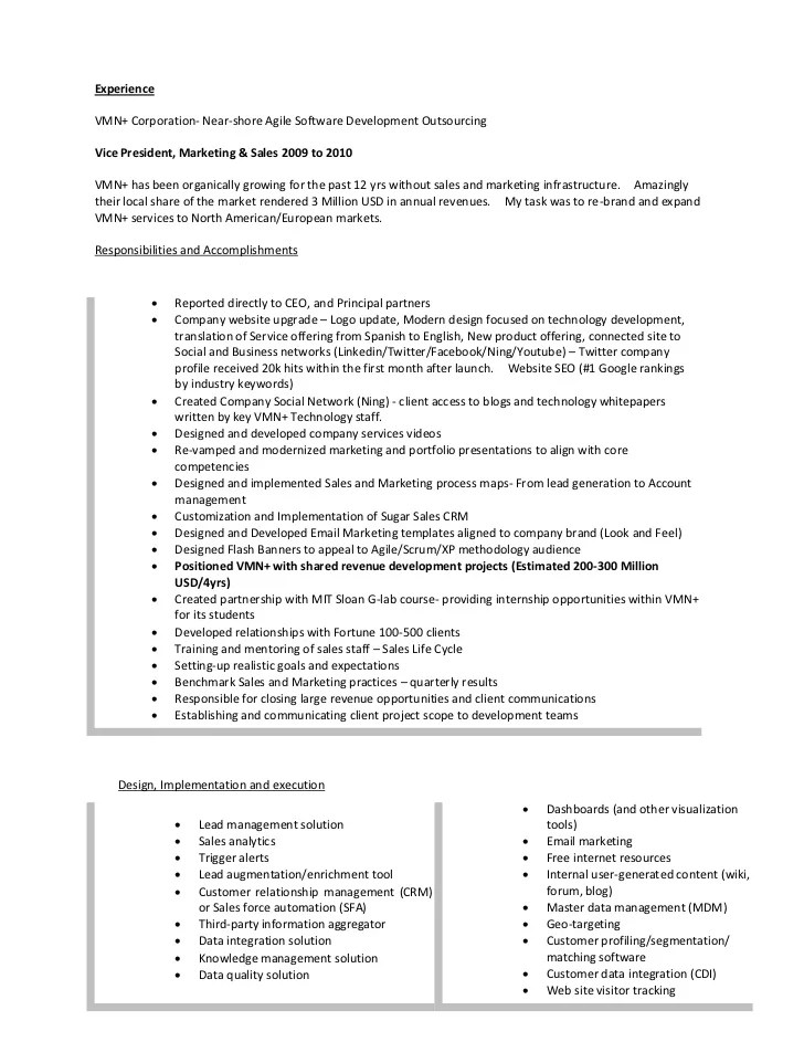 sales and marketing resume s and marketing manager cv yip and of