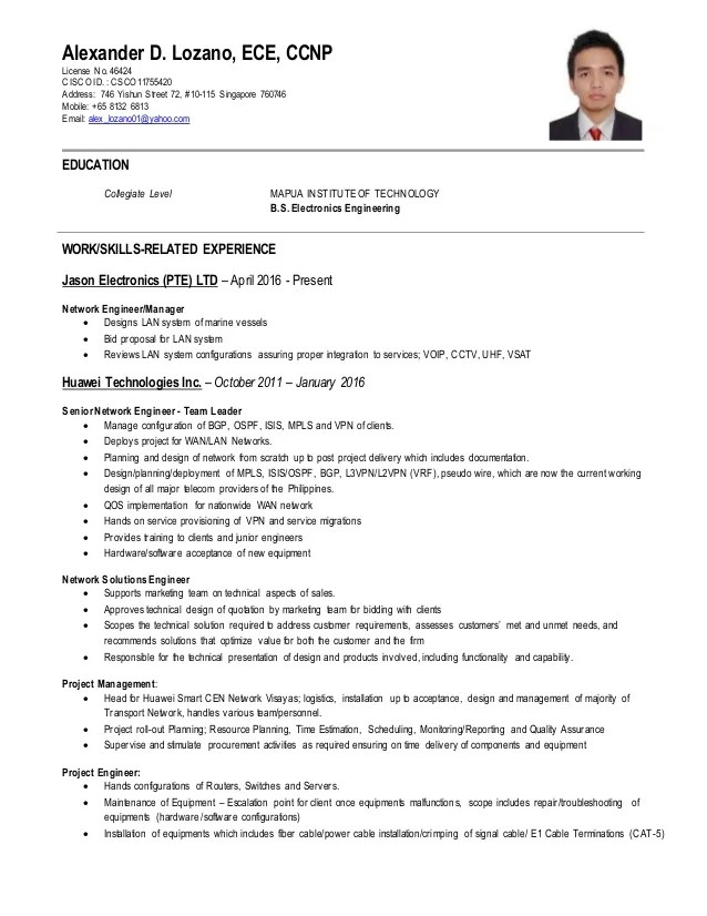 Ccna Resume. ccna resume format pdf example good resume template ...