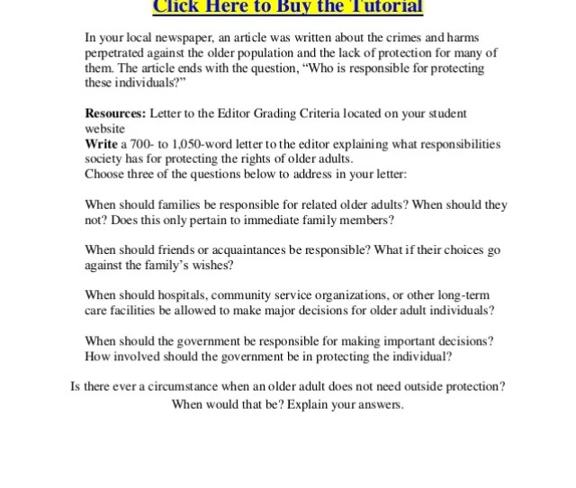 Ltc  Individual Assignment Letter To The Editor Legal Perspectives In Aging