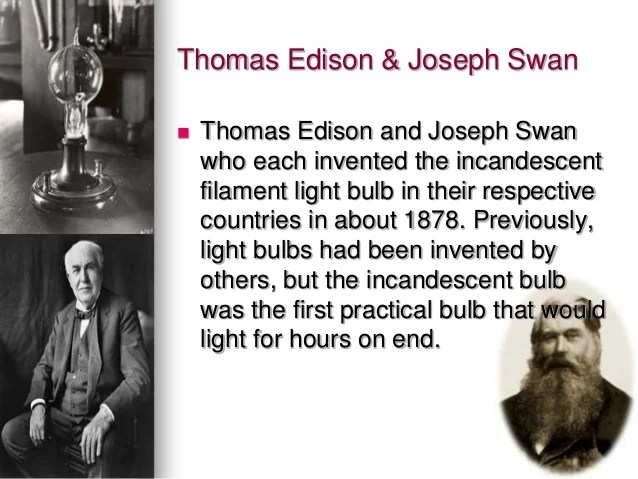 First Person Invent Light Bulb