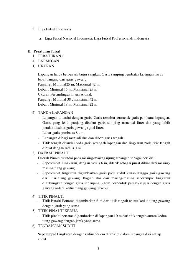 Peraturan Futsal Singkat : peraturan, futsal, singkat, Makalah, Tentang, Futsal, Singkat