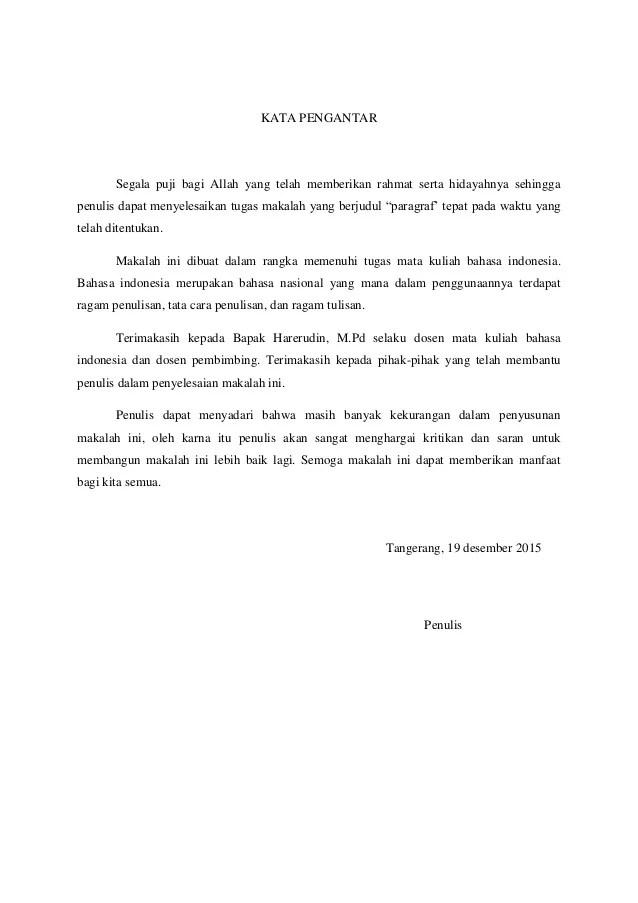 Contoh Makalah Bahasa Indonesia Yang Sudah Jadi Contoh Surat