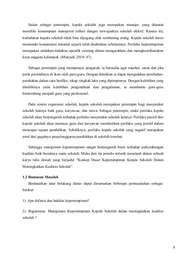18 Contoh Karya Tulis Ilmiah Untuk Kepala Sekolah