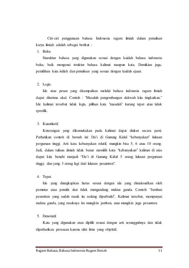 16 Contoh Makalah Bahasa Indonesia Kalimat Efektif