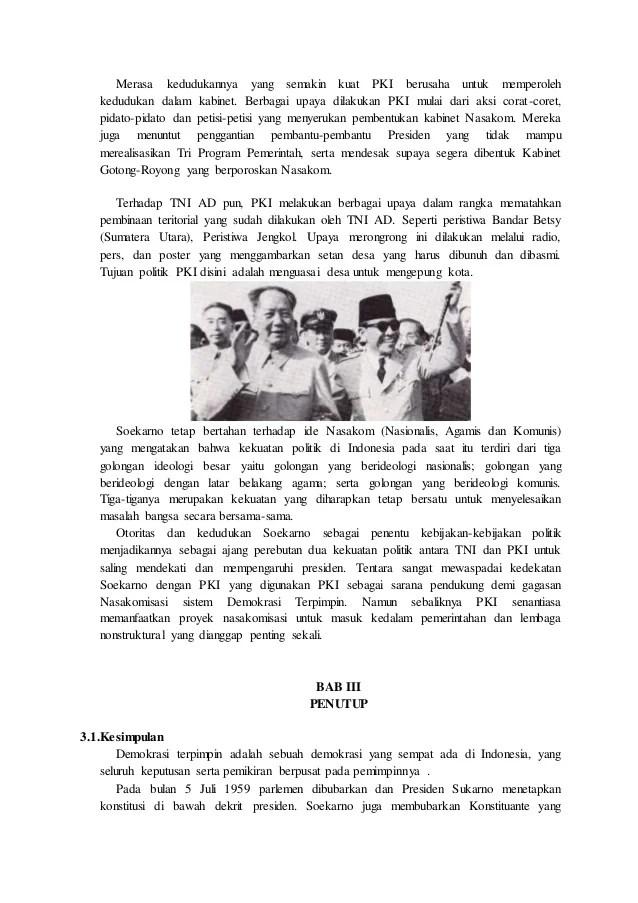 14 Makalah Kehidupan Politik Indonesia Di Masa Demokrasi Parlementer