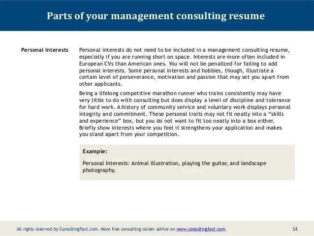 management consulting personal personal