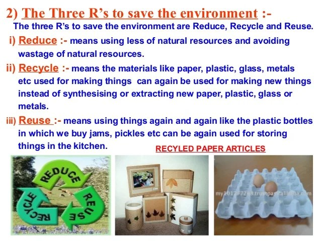 Recycling Saves Natural Resources