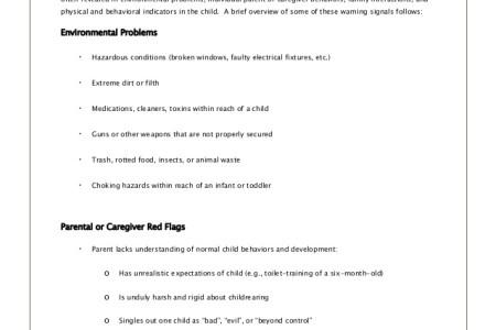 Free Standard Form Child Abuse Report Form Standard Form