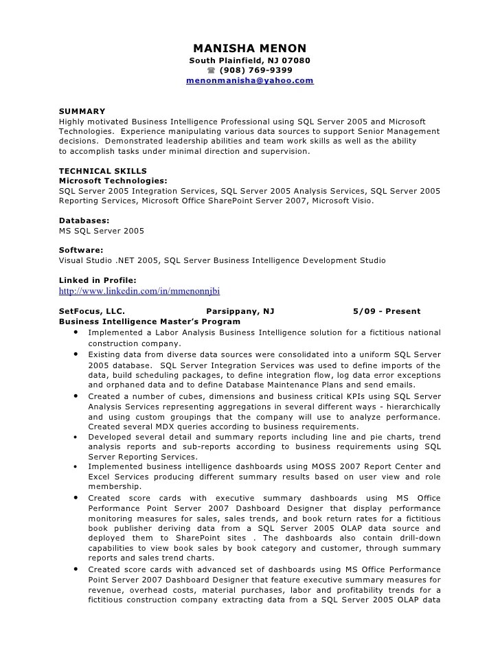 Architect Resume Summary. For Professional Human Career. Resume
