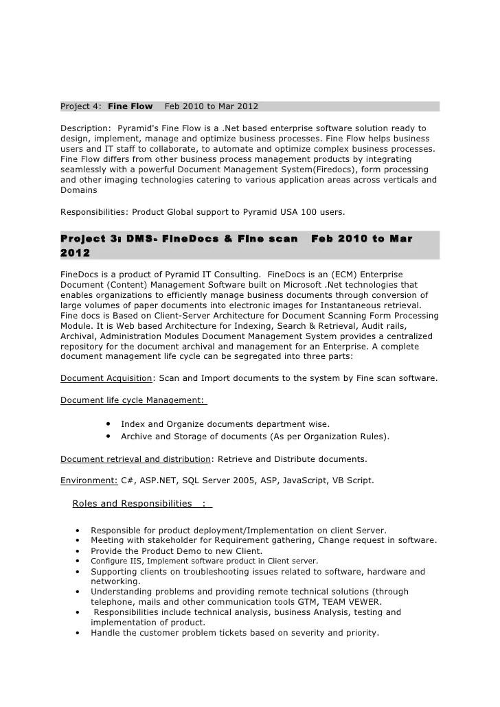 resume bpm consultant senior business process analyst service