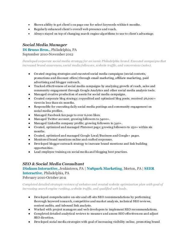 Brand Marketing Manager Resume Format. Resume Brand Manager
