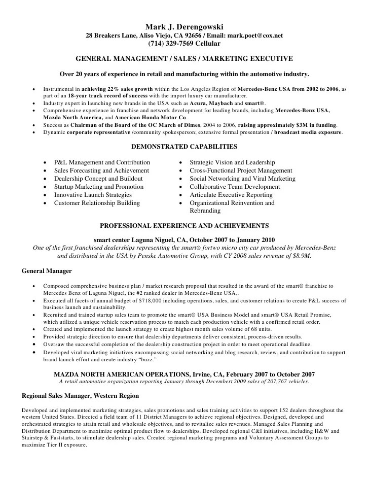 automotive sales manager resume auto sales resume auto sales