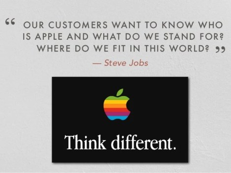 Image result for our customers want to know who is apple and what is it that we stand for in this world.