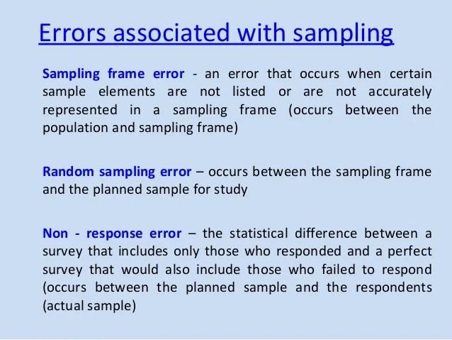 What Is Sample Frame Error | pixels1st.com