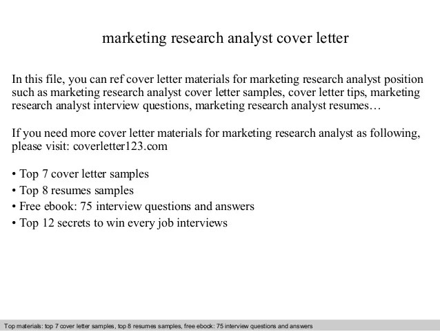 market research cover letters template