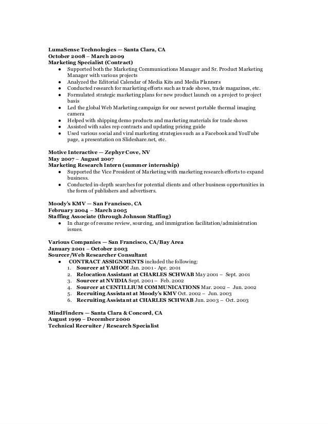 marketing specialist resume online marketing specialist resume