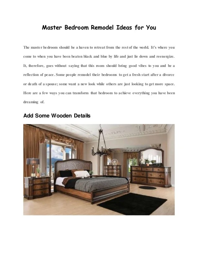 Master Bedroom Remodel Ideas For You