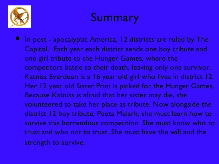 hunger games book summary cartoonwjd com