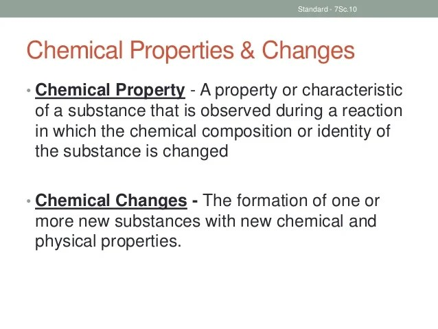 Are They What How Substance Changes Used And Chemical Physical And Are