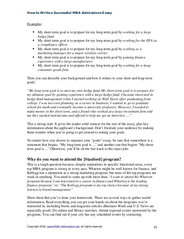 professional goals essay for graduate school