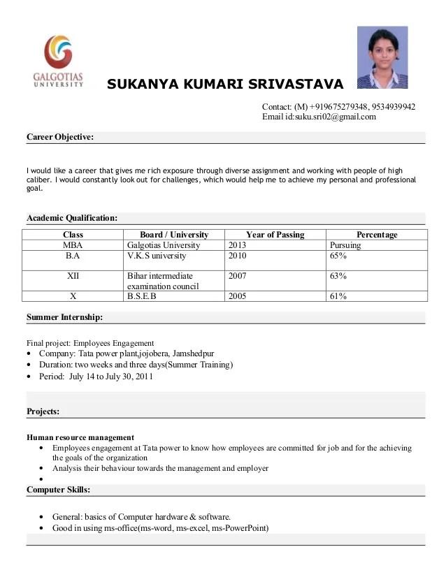 Hbs Mba Resume Format. . mba resume sample mba resume sample ...