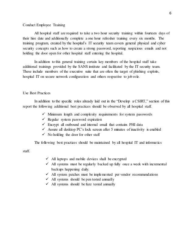 Sample Incident Response Plan