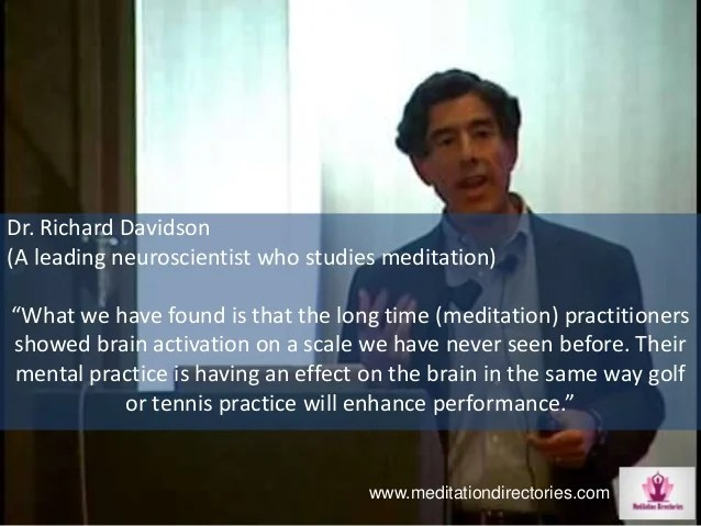 Image result for richard davidson meditation