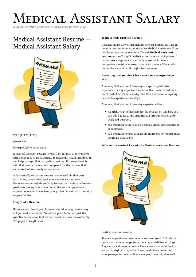 Best Medical Assistant Resume Example, LiveCareer