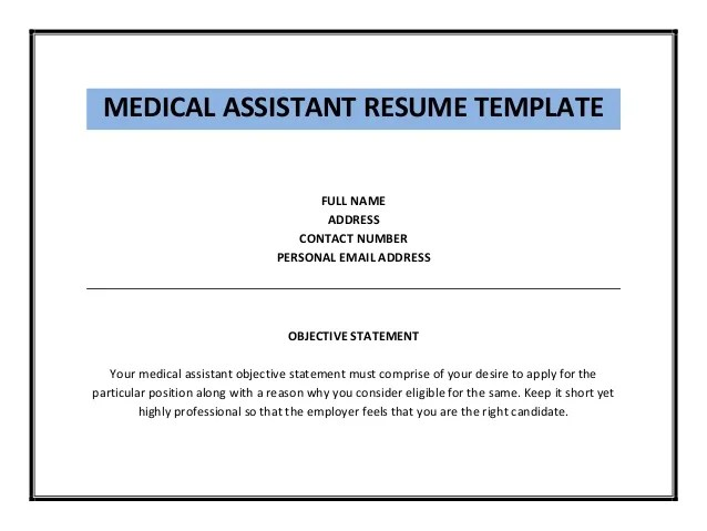 sample resume personal assistant template qrlupjg pinterest - Medical Assistant Objective For Resume