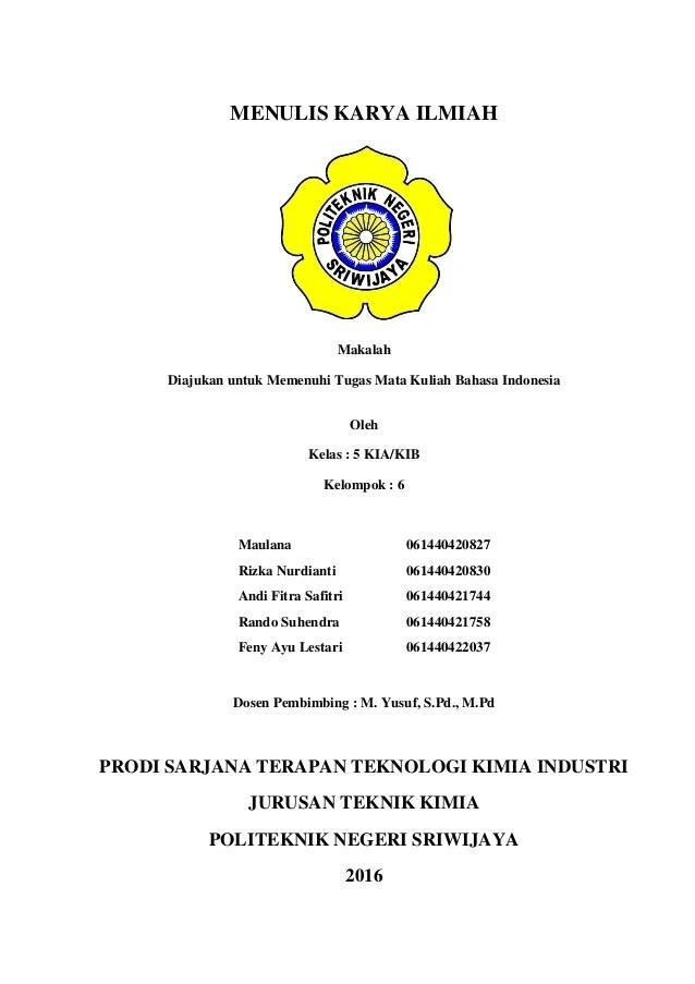 Contoh Makalah Bahasa Indonesia Tentang Karya Ilmiah Contoh Surat