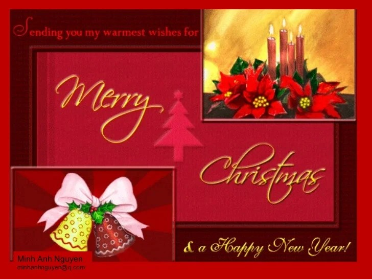 Merry Christmas Email Message