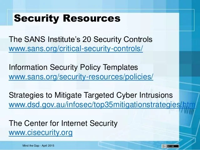 Sans Security Policy Templates