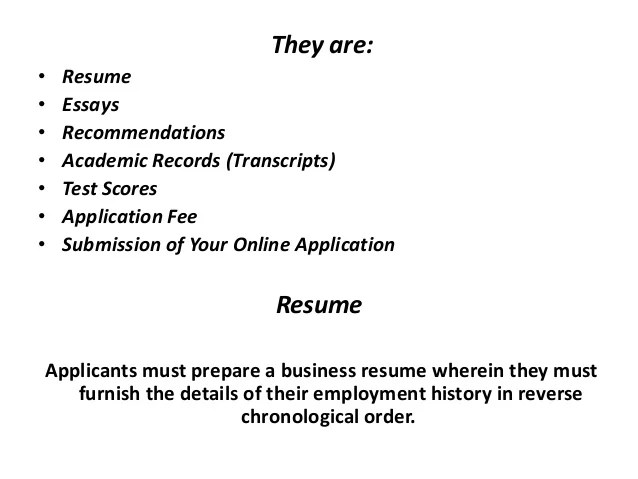 What should your resume look like when applying to a top MBA program?