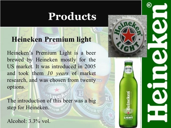 Heineken Light Alcohol Content Info