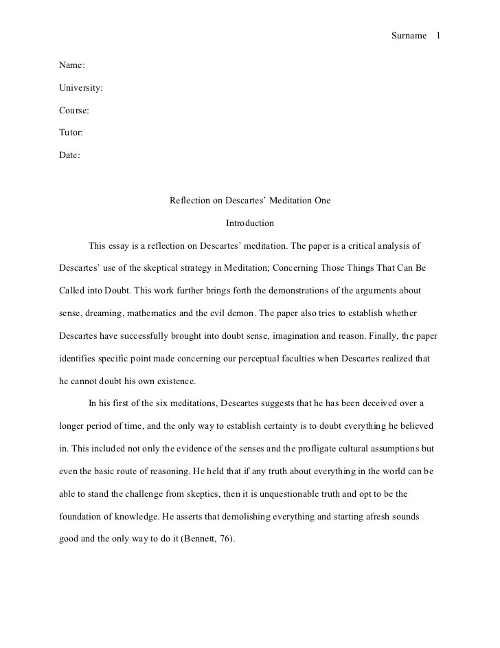 How to Write a Self-Reflection Paper Using APA