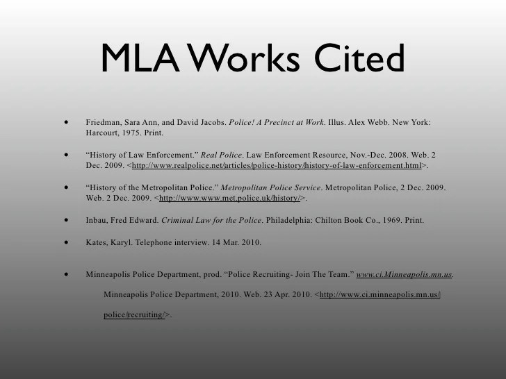 Mla essay with works cited