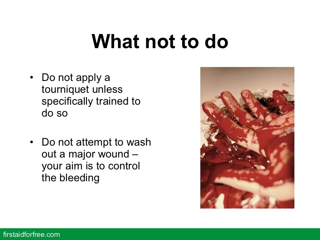 First Aid For Severe Bleeding