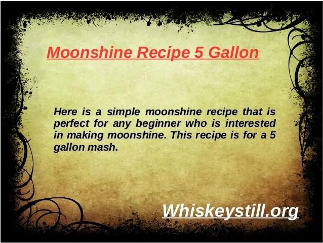 Simple Moonshine Stills
