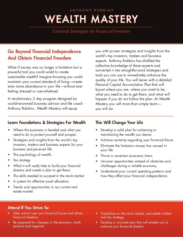 Mastery University Complete Presentation Brochureaisucces