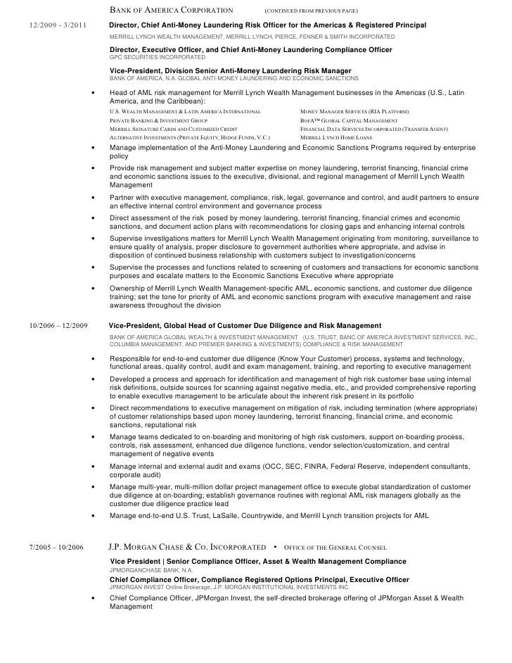 Doc.#615855: Risk Management Resume – Risk Management Resume ...