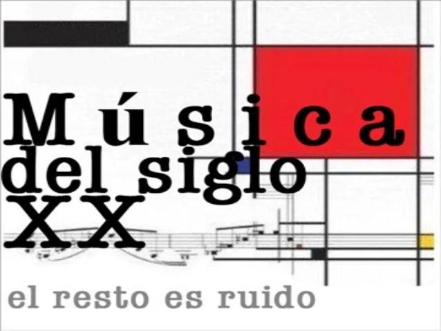 Resultado de imagen de siglo xx música