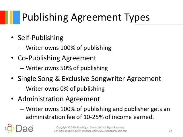 Music Publishing Deal Example Dealssite