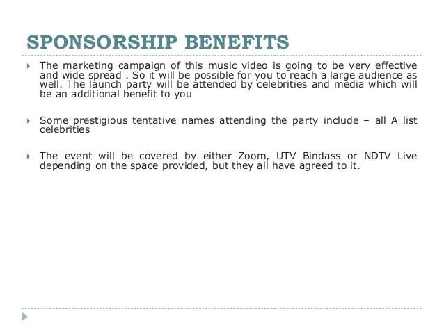 Sponsorship Presentation Template event mobile app sponsor – Event Proposal